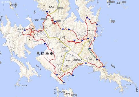 奥松島オルレプラスコース周回マップコース(ツウ)
