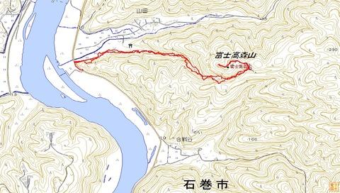 富士高森山ハイクルートマップ