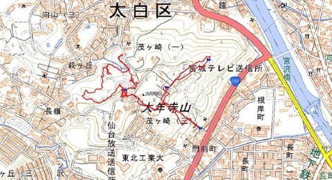 大年寺山周辺散策マップ