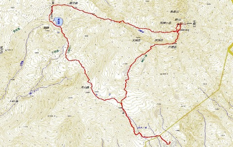 鳥海山周回登山ルートマップ