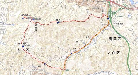 蕃山周回ハイキングマップ