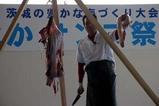 ひたちなかサンマ祭り08-10-19(8)アンコウの吊切り72