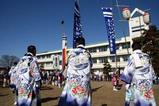 鹿島神宮棒揃え回り祭頭10-2-21(7)大総督出迎え
