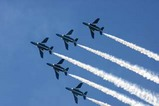 百里基地航空祭ブルーインパルス五機2