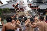 湊八朔祭り09-08-09(2)神輿渡御水掛