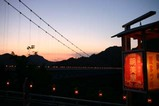 竜神峡灯ろうまつり夕焼け