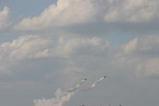 百里基地航空祭ブルーインパルス二機