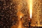 益子祇園祭下野手筒花火10-7-23(3)手筒花火手順
