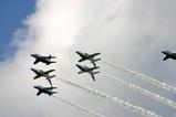百里基地航空祭ブルーインパルス六機