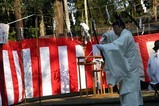 水戸八幡宮はねつき神事09-1-12(2)破魔弓神事