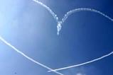 百里基地航空祭ブルーインパルスハート