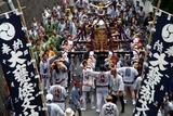 大甕神社例大祭10-7-19(5)行戸浜の坂神輿