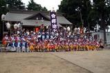 天満宮祭礼09-08-09手古舞(4)記念撮影