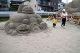 ひたちサンドアートフェスティバル10-07-15中型砂像
