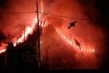 つくばみらい市高岡の綱火