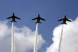 百里基地航空祭ブルーインパルス三機