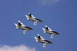 百里基地航空祭ブルーインパルス四機1