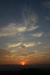 朝日西山から阿武隈を