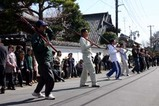 西金砂神社小祭礼09-3-15町田の火消し行列練習