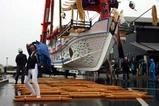 お船祭海上渡御09-04-26(1)お船引き出し