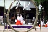 若宮八幡宮夏越の大祓式09-06-28(3)八乙女の舞鶴子舞