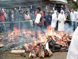 加波山火渉祭
