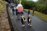 西金砂神社小祭礼09-3-20(3)赤土笠揃え