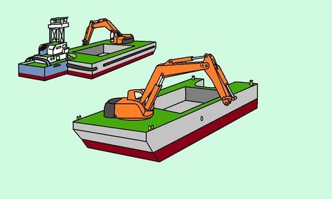 浚渫用台船 (1.1)