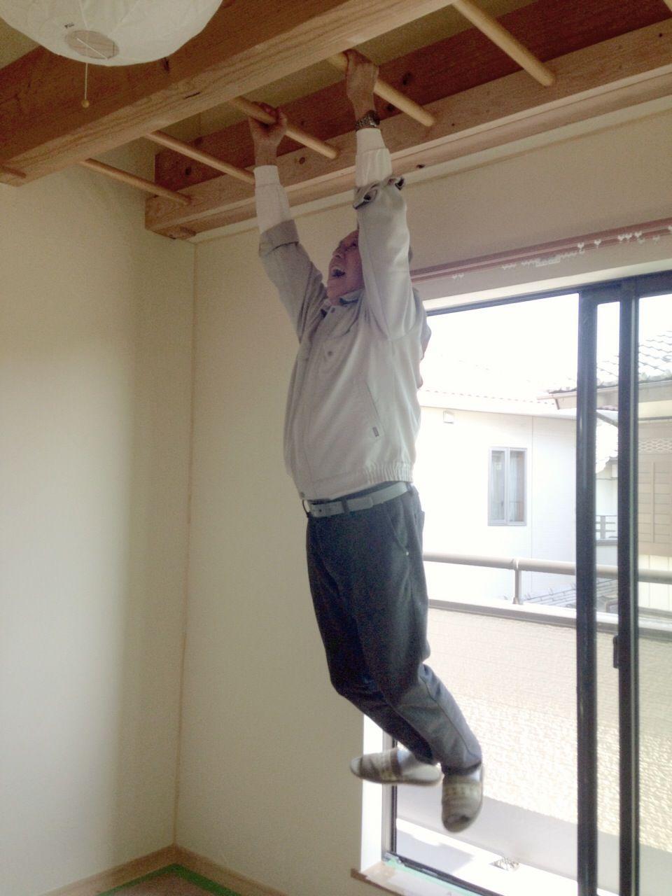 お家の中に雲梯(うんてい)ができました                くらら工房