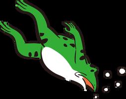 ダイビングカエル