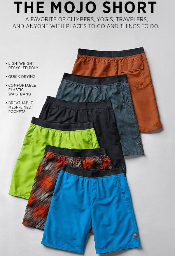 prAna 2015 SS....Men's Shorts