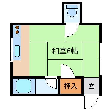 岡崎アパート_1R