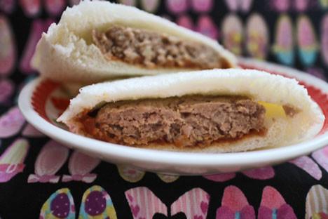 【ランチパック】デミグラハンバーグと野菜カレー