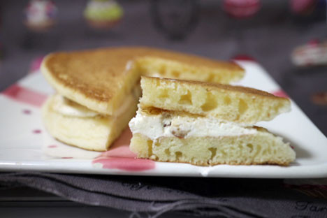 kiri チーズクリームのパンケーキ