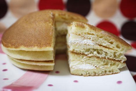 もちっとパンケーキ(チーズクリーム&ホイップ)