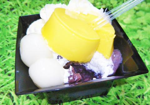 北海道十勝産小豆使用 プリン&白玉ぜんざい