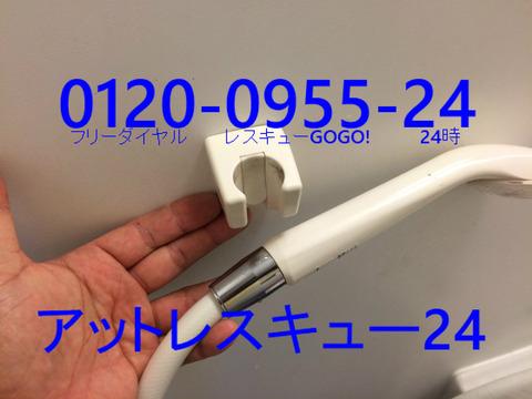 シャワーヘッド壁掛けホルダー ネジ穴修理