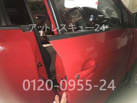 Volkswagenクロスポロ車内インロック鍵穴開錠