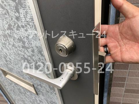 MIWAディスクシリンダーH248玄関開錠