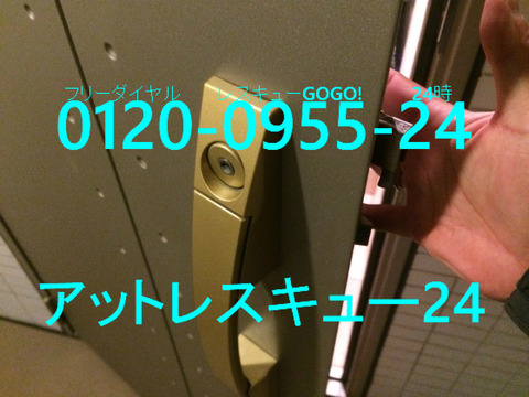 プッシュプル玄関錠 HI防犯サムターン非破壊開錠