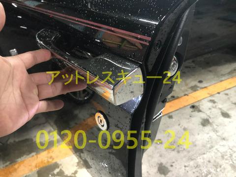 ロールスロイス現行型ゴースト車内キー閉じ込みドアロック開錠