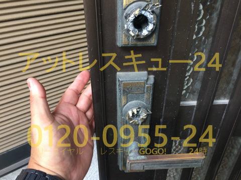 ミワU9サムラッチ装飾錠のバトンタッチ開錠