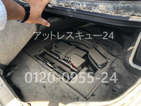 XF50型トヨタLEXUSハイブリッド500hトランク内バッテリー