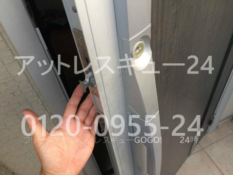玄関ドア開閉不具合カギ開け修理