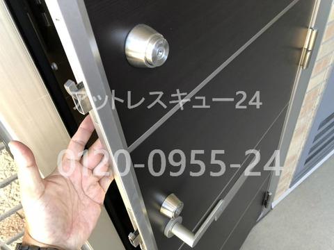 ミワU9玄関ドアロック二か所同一キー 非破壊開錠
