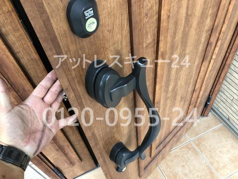 トステムドア玄関カギ開けMIWAロックPRディンプルシリンダー