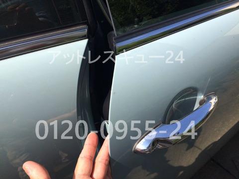 BMWミニクーパーSリモコンキー車内インロック鍵穴開錠
