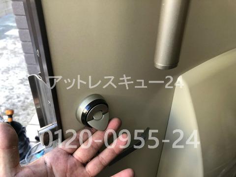 防犯サムターン引き起こし型パタンテ ドアロック無傷開錠