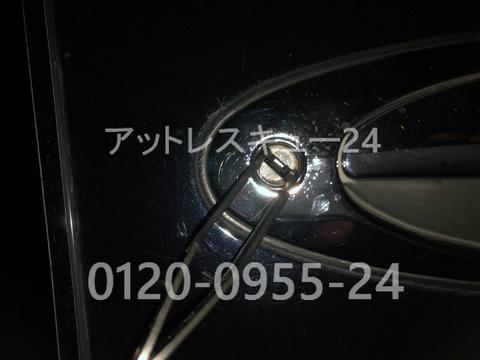 ニッサンJG50系プレジデント鍵穴ピッキング開錠