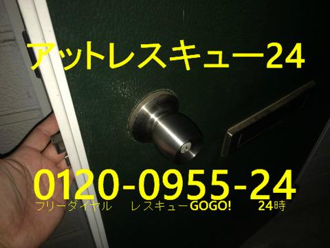 玉座ドアロック開錠 ピンシリンダー